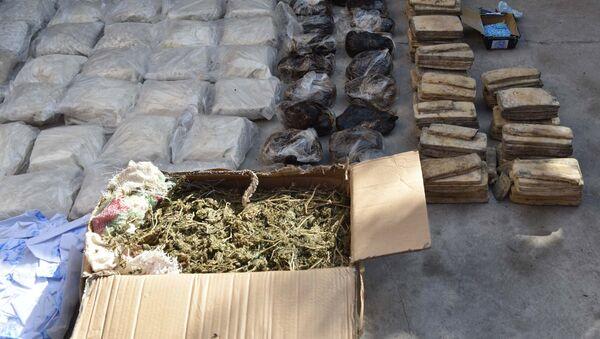 Уничтожение наркотических средств в Таджикистане - Sputnik Азербайджан