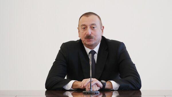 İlham Əliyev qadın voleybolçulardan ibarət milli komandamızın heyətini qəbul edib - Sputnik Azərbaycan