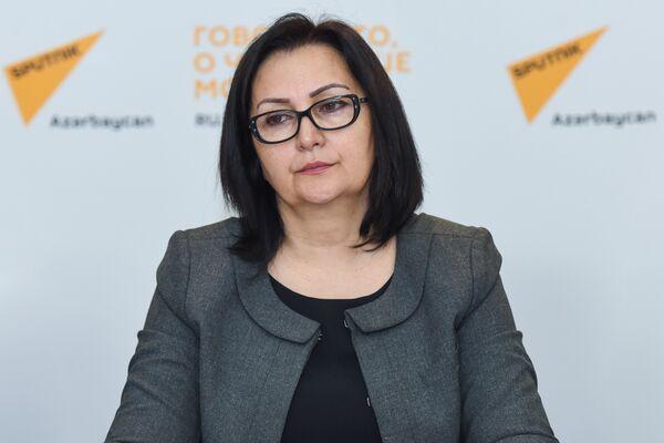 Директор Института профессионального развития работников образования министерства образования Вяфа Ягублу - Sputnik Азербайджан