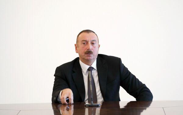İlham Əliyev Avropa İttifaqı Şurasının nümayəndə heyətini qəbul edib - Sputnik Azərbaycan