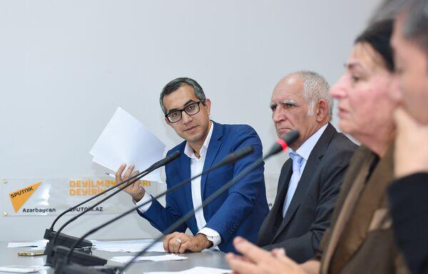 Пресс-конференция, приуроченная ко Дню учителя в мультимедийном пресс-центре Sputnik Азербайджан - Sputnik Азербайджан