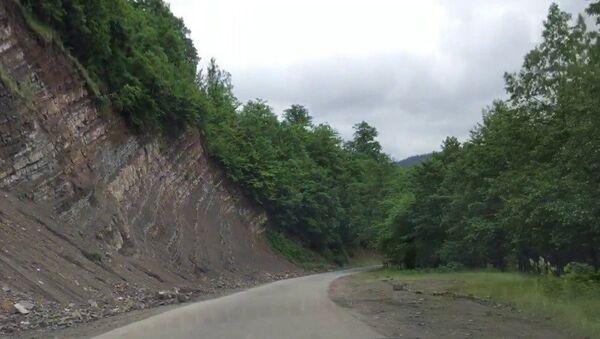 Участок дороги Лянкяран-Лерик - Sputnik Азербайджан
