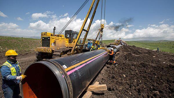 Строительные работы трансанатолийского газопровода (TANAP), фото из архива - Sputnik Azərbaycan