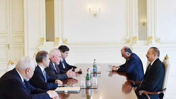 Prezident İlham Əliyev həmsədrləri qəbul edib - Sputnik Azərbaycan
