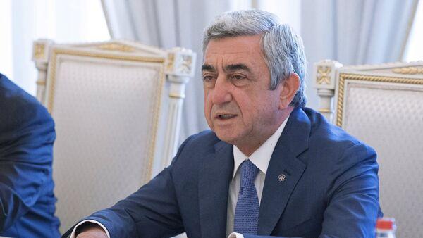 Ermənistanın eks-prezidenti Serj Sarqsyan, arxiv şəkli - Sputnik Azərbaycan
