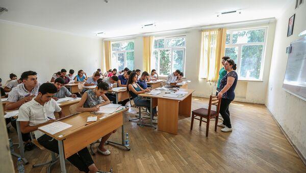 Студенты во время учебного процесса, фото из архива - Sputnik Азербайджан