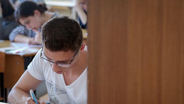Ученики в классе, фото из архива - Sputnik Азербайджан
