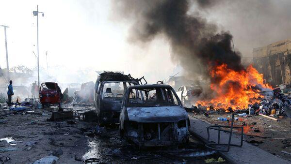 Взрыв в Могадишо, Сомали, 14 октября 2017 года - Sputnik Азербайджан