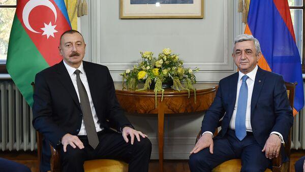 В Женеве состоялась встреча президентов Азербайджана и Армении - Sputnik Азербайджан