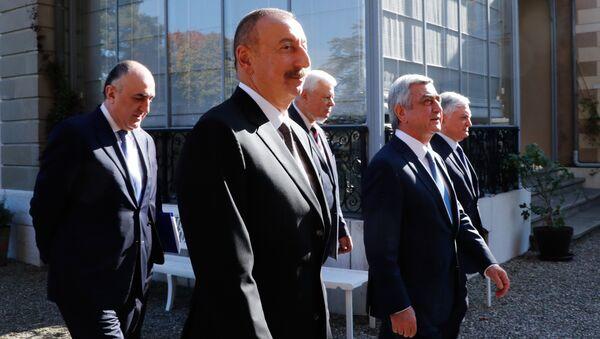 Azərbaycan və Ermənistan prezidentlərinin Cenevrə görüşü, 16 oktyabr 2017-ci il - Sputnik Azərbaycan