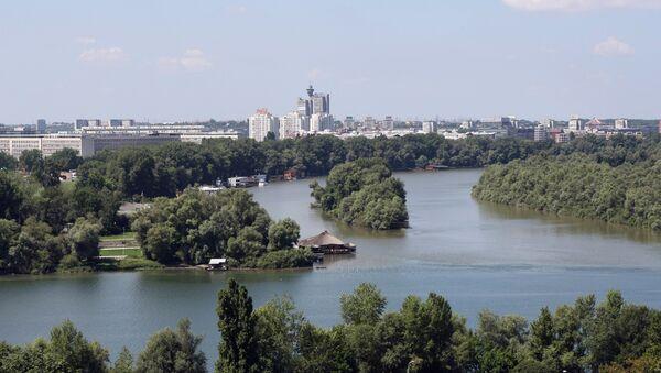 Вид на город Белград и место, где река Сава впадает в Дунай - Sputnik Азербайджан