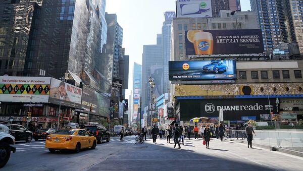 Одна из центральных улиц Нью-Йорка, фото из архива - Sputnik Азербайджан