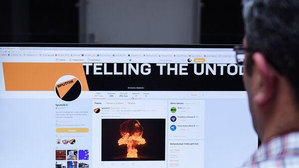 Страница агентства Sputnik в социальной сети Twitter - Sputnik Азербайджан