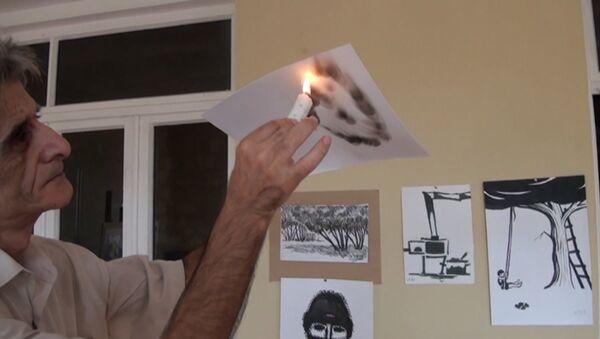 Свеча вместо кисти: художник из Газаха создает уникальные работы - Sputnik Азербайджан