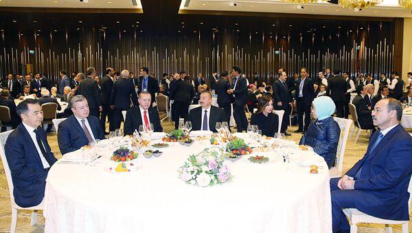 Прием для участников церемонии открытия железной дороги Баку-Тбилиси-Карс - Sputnik Азербайджан