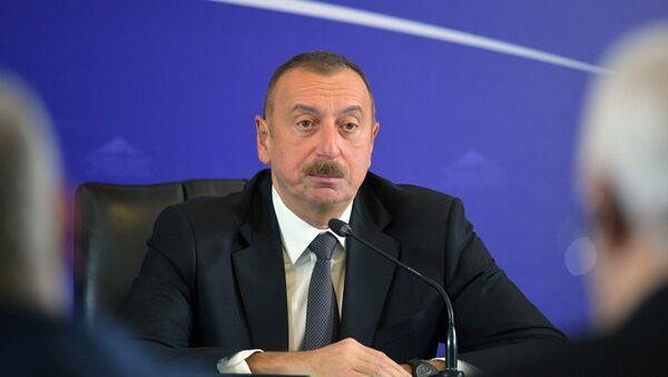 Президент Азербайджана Ильхам Алиев - Sputnik Azərbaycan