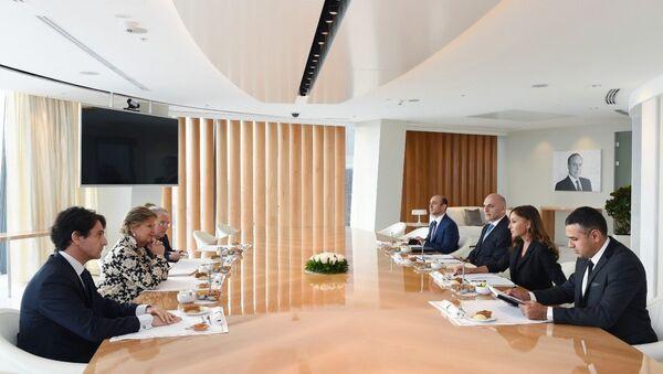 Первый вице-президент Мехрибан Алиева встретилась с делегаций во главе с заместителем председателя Сената Италии - Sputnik Азербайджан