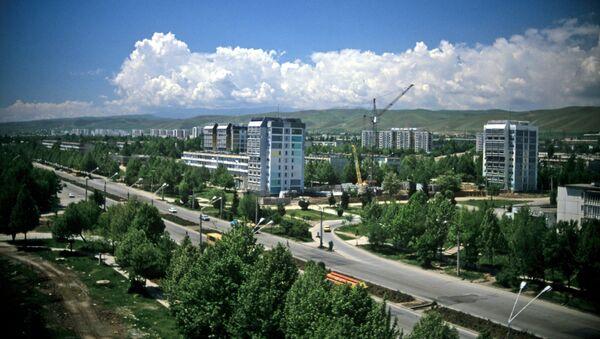 Вид на центр города Душанбе - Sputnik Азербайджан