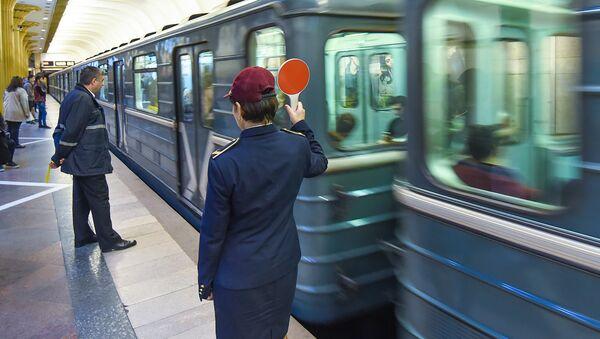Бакинский метрополитен. Станция Нариман Нариманов - Sputnik Азербайджан