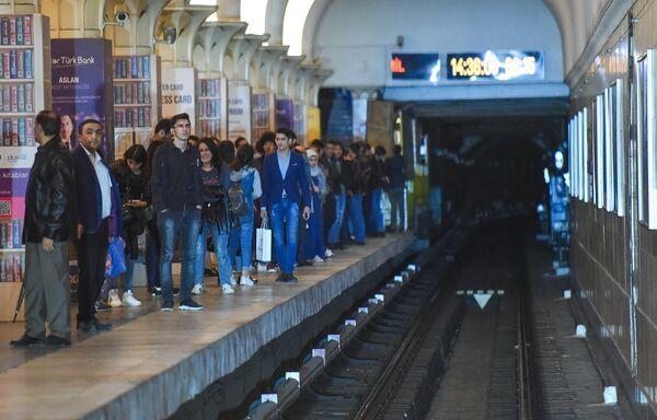 Бакинский метрополитен. Станция Гянджлик - Sputnik Азербайджан