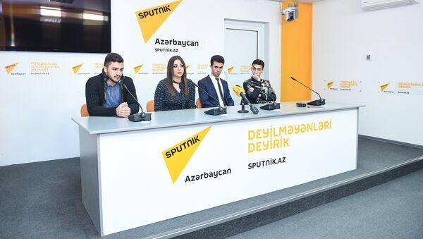 Пресс-конференция в мультимедийном пресс-центре Sputnik Азербайджан, посвященная итогам Baku Jazz Festival - Sputnik Азербайджан