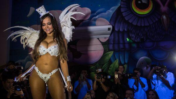 Финал конкурса красоты Мисс Бум-Бум 2017 в Бразилии - Sputnik Азербайджан
