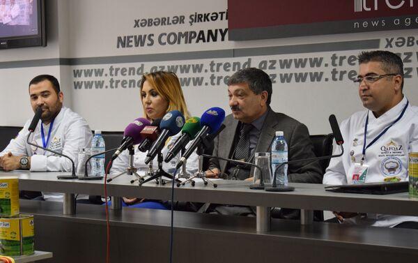 Пресс-конференция, посвященная итогам международного кулинарного чемпионата в Македонии - Sputnik Азербайджан