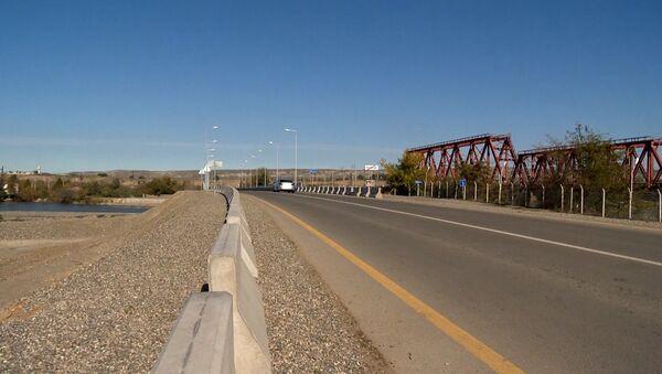 Новый мост в Агстафинском районе - Sputnik Азербайджан