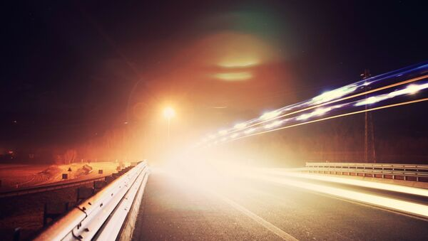 Ночная трасса, фото из архива - Sputnik Azərbaycan