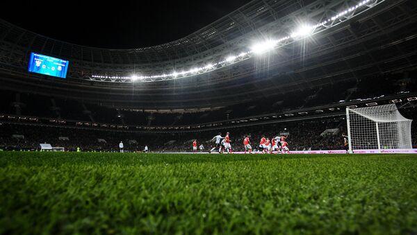 Игровой момент товарищеского матча между сборными командами России и Аргентины. - Sputnik Azərbaycan