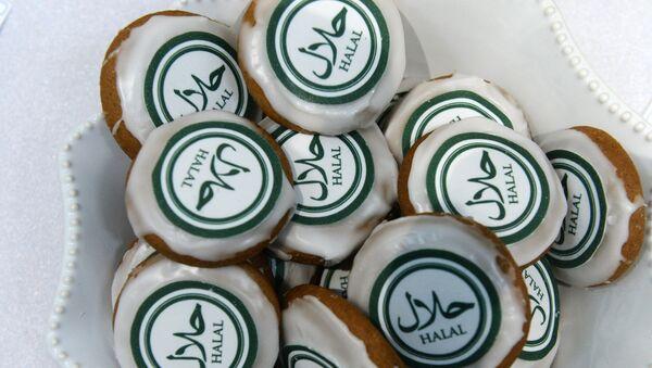 Печенье, представленное на открытии выставочной экспозиции RUSSIA HALAL EXPO, фото из архива - Sputnik Азербайджан