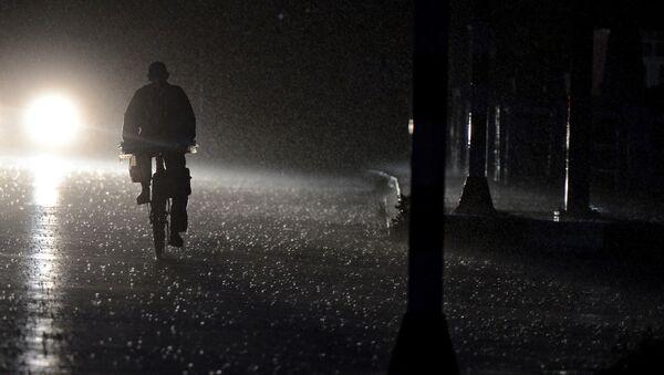 Ночная улица, фото из архива - Sputnik Азербайджан
