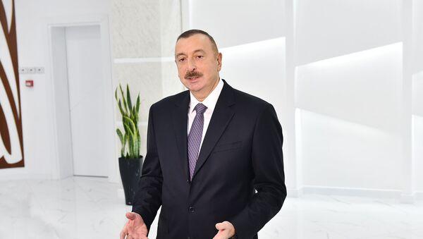 Президент Ильхам Алиев принял участие в открытии Абшеронского Олимпийского спортивного комплекса - Sputnik Азербайджан