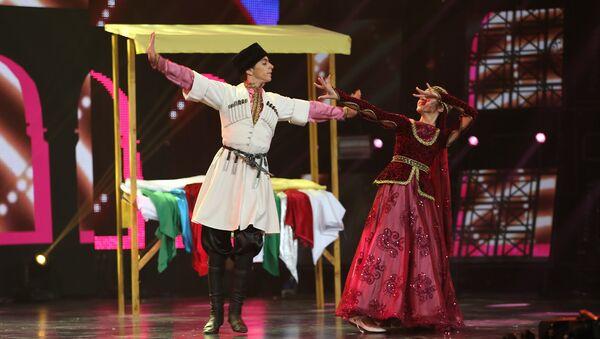 Народный танец Джанги на сцене Ты супер! Танцы - Sputnik Азербайджан