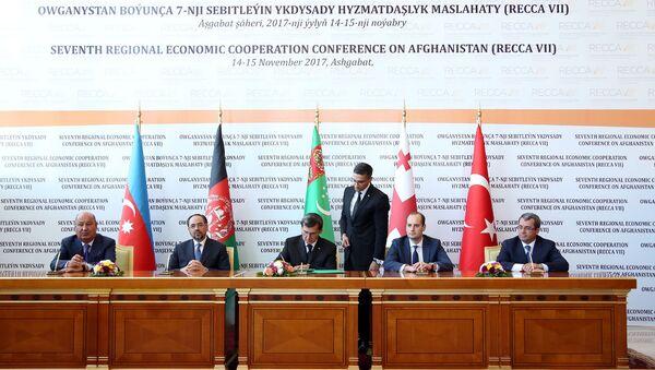 Подписание соглашения по проекту Лазуритовый коридор - Sputnik Азербайджан