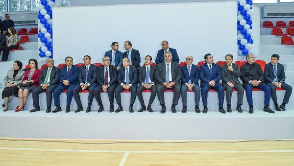 Торжественное мероприятие по случаю открытия после ремонта спортивного дворца Азербайджанского технического университета - Sputnik Азербайджан