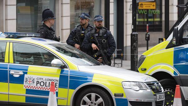 Сотрудники полиции в Лондоне, фото из архива - Sputnik Азербайджан
