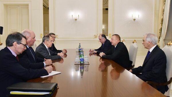 Президент Ильхам Алиев принял делегацию, возглавляемую министром иностранных дел России - Sputnik Азербайджан