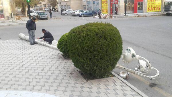 Последствия урагана в Барде - Sputnik Азербайджан
