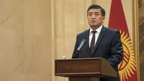Президент Кыргызстана Сооронбай Жээнбеков - Sputnik Азербайджан