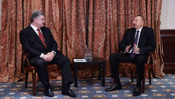 Президенты Азербайджана и Украины Ильхам Алиев и Петр Порошенко. Брюссель, 23 ноября 2017 года - Sputnik Азербайджан