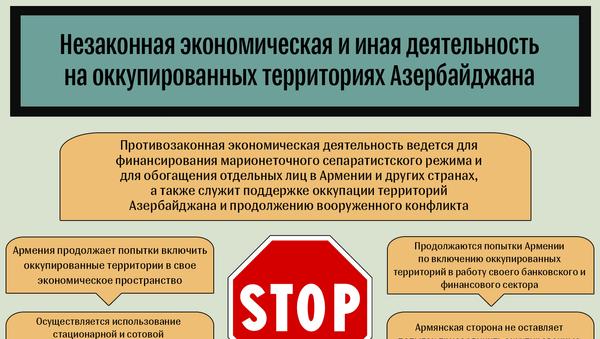 Незаконная деятельность на оккупированных территориях Азербайджана - Sputnik Азербайджан