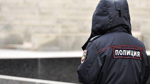 Сотрудник российской полиции, фото из архива - Sputnik Азербайджан