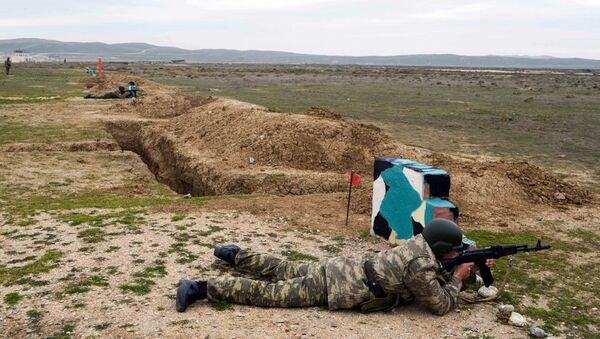 Проведены соревнования на звание лучших командиров батальонов - Sputnik Азербайджан
