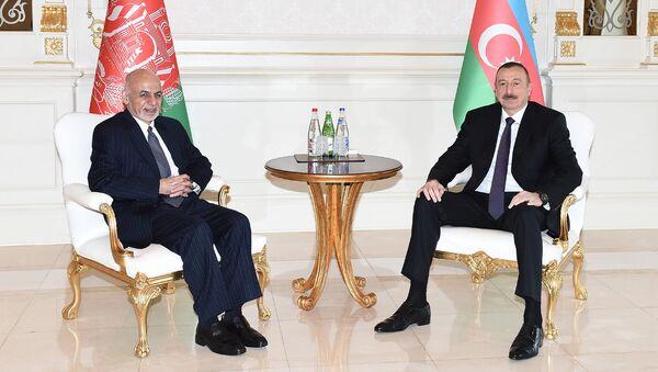 Ильхам Алиев и президент Афганистана Мохаммед Ашраф Гани - Sputnik Азербайджан