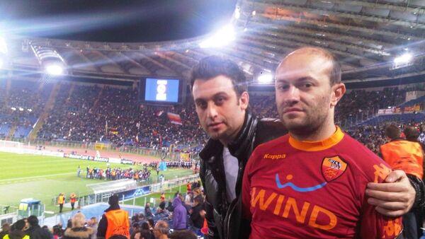 Лицензированный агент ФИФА в Азербайджане Камиль Мамедов (справа) - Sputnik Азербайджан