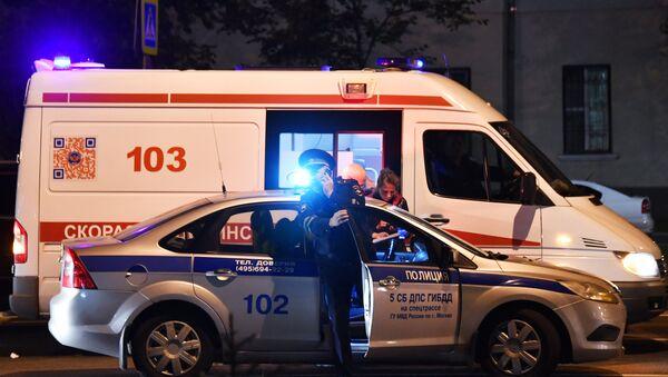 Автомобили полиции и скорой медицинской помощи в Москве, фото из архива - Sputnik Азербайджан