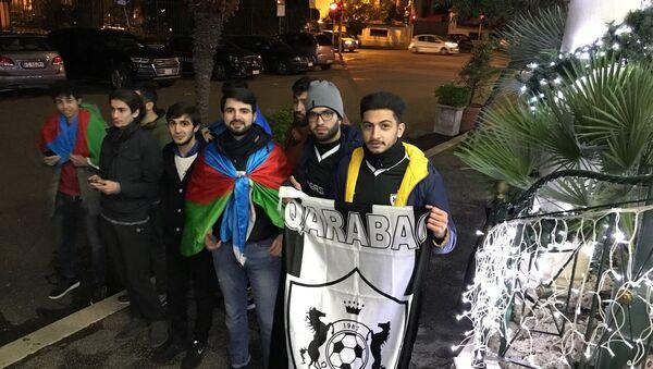 Болельщики Карабаха в Риме, 3 декабря 2017 года - Sputnik Азербайджан
