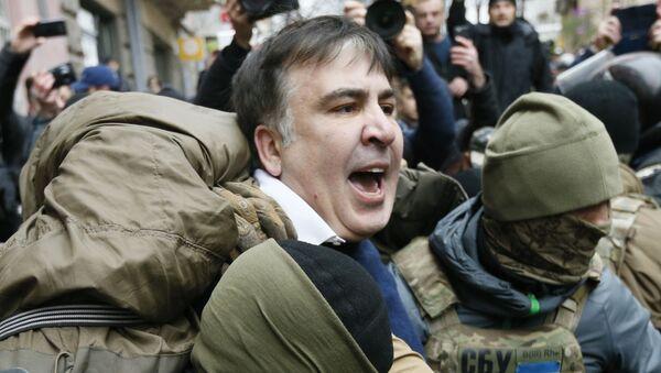 Задержание Михаила Саакашвили сотрудниками СБУ в Киеве, 5 декабря 2017 - Sputnik Азербайджан