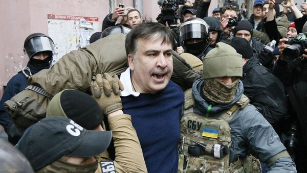 Задержание бывшего президента Грузии Михаила Саакашвили в Киеве - Sputnik Азербайджан